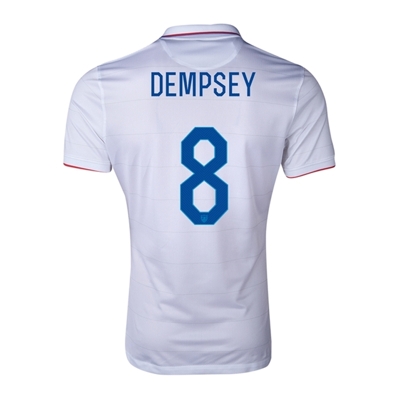 01e3e6ea7 SALE  87.45 -Nike USA 2014  DEMPSEY 8  Home Authentic Soccer Jersey ...