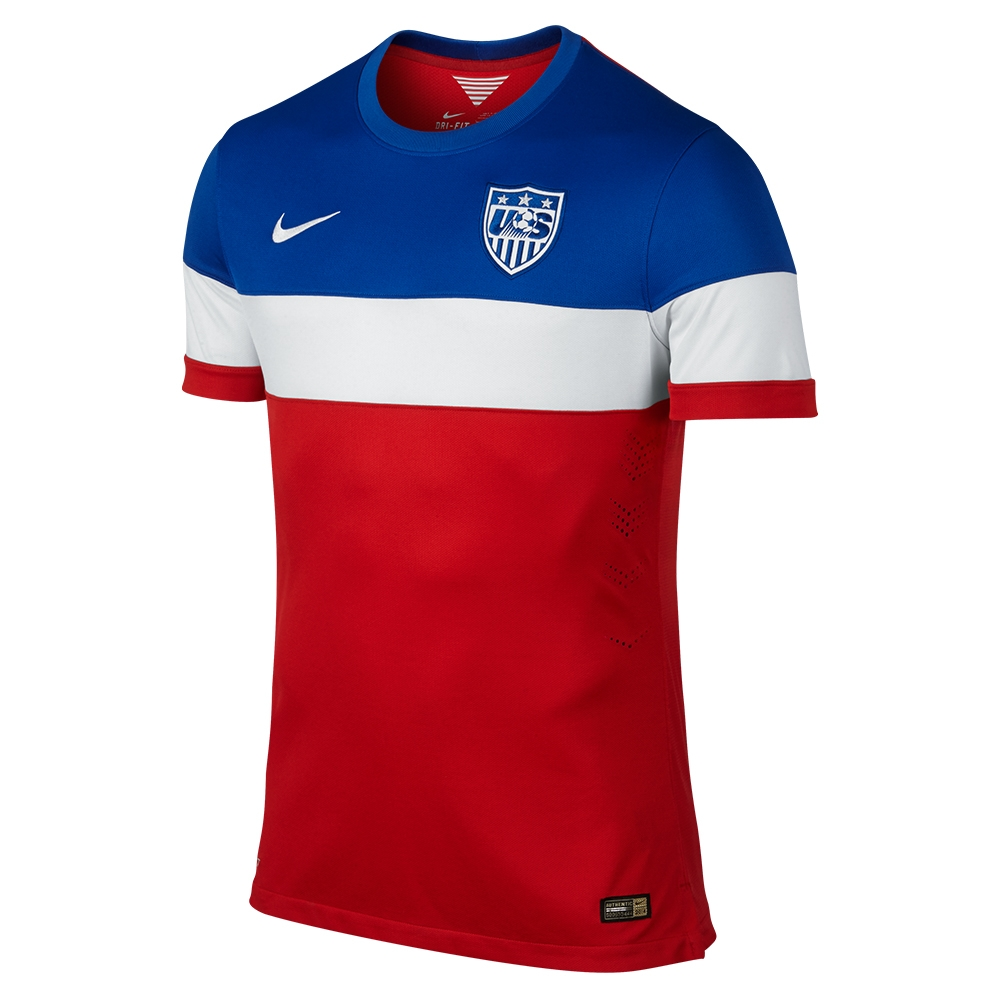 8ac8b2f4446 $149.99 - Nike USA 2014 Authentic Away Soccer Jersey (University Red ...