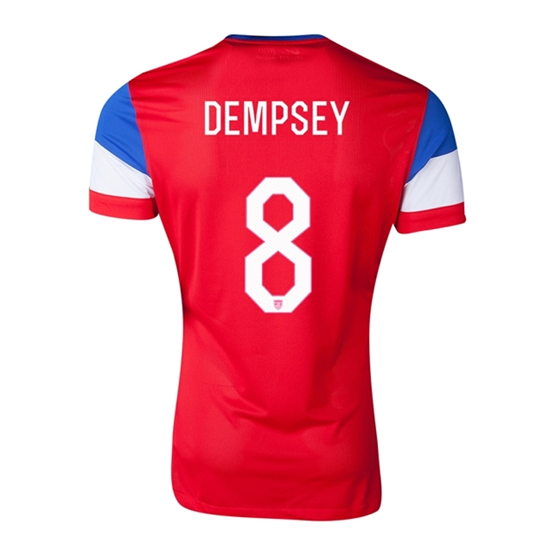 1dfca7364c5  157.49 - Nike USA 2014  DEMPSEY 8  Away Authentic Soccer Jersey ...