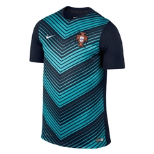Nike Portugal 2014 Squad Soccer Pre-Match Training Top (Obsidian)