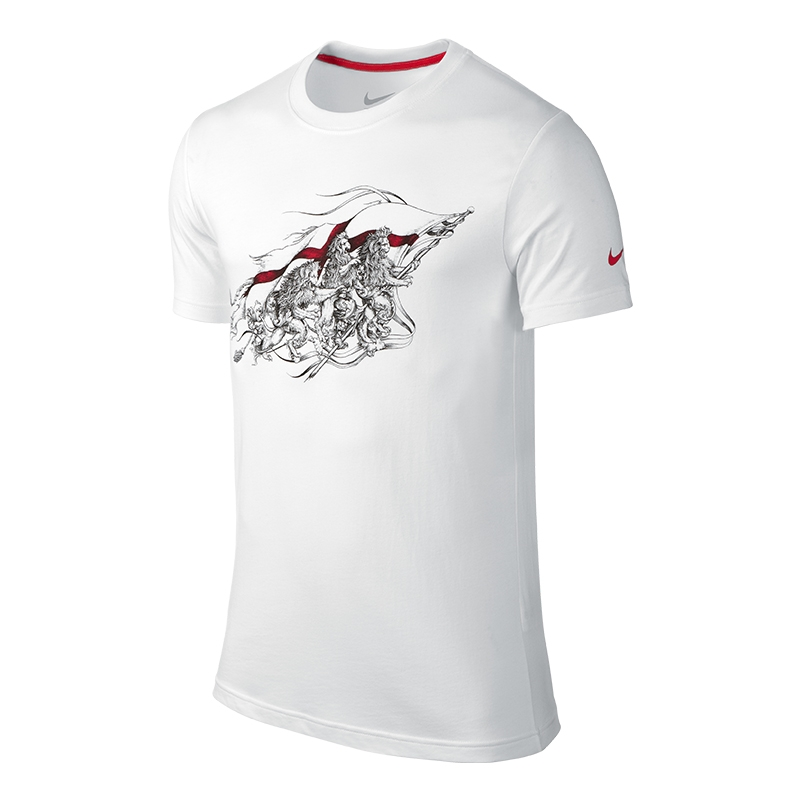 a2f4d57c Nike England Core Plus Tee Shirt (White/University Red ...