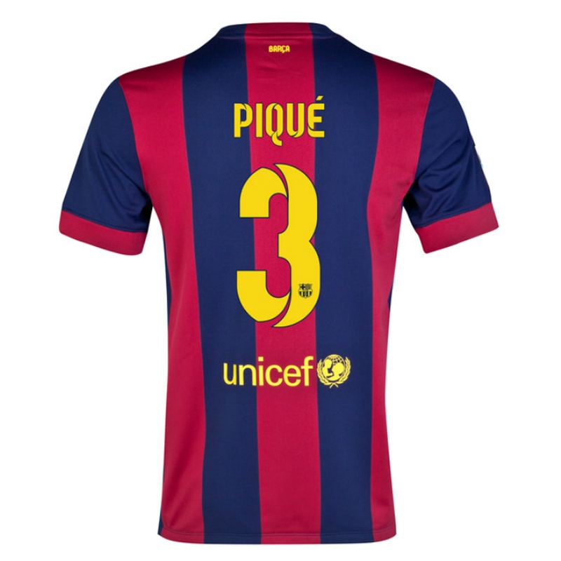 separation shoes c37ce 62604 Nike FC Barcelona 'PIQUE 3' '14-'15 Home Soccer Jersey (Blue/Red)
