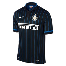 Nike Inter Milan Home '14-'15 Replica Soccer Jersey (Black/Royal Blue/Football White)