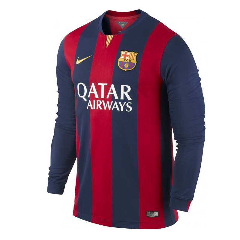Nike FC Barcelona  14- 15 Home Long Sleeve Soccer Jersey (Loyal Blue ... 5981aad6d