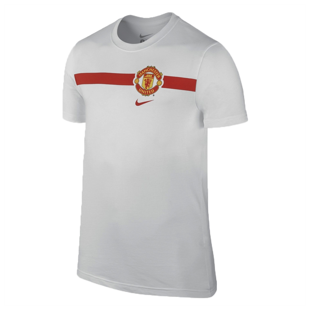 7f37b2dce00 Nike Manchester United Core Tee Shirt (White Diablo Red ...
