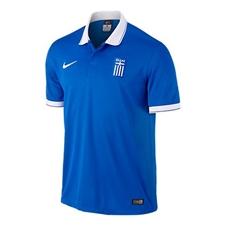 Nike Greece 2014 Away Soccer Replica Jersey (Royal Blue/White)