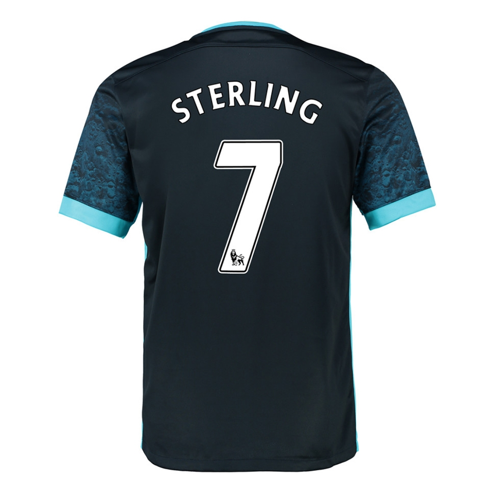 Nike Manchester City 'STERLING 7' Away '15-'16 Soccer Stadium Jersey