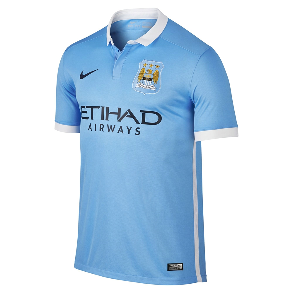 2df7a9ea5c1fb Nike Manchester City Home  15- 16 Soccer Stadium Jersey (Field Blue ...