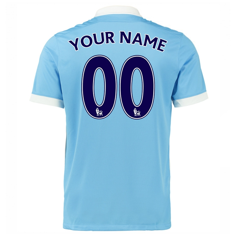 new products d2e38 9556a Nike Manchester City 'CUSTOM' Home '15-'16 Soccer Stadium Jersey (Field  Blue/White/Obsidian)