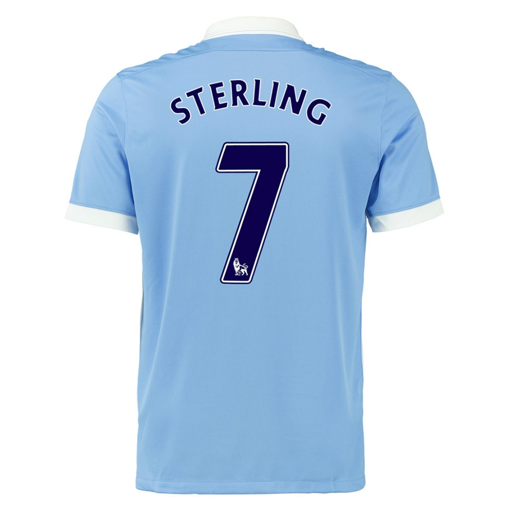 Nike Manchester City \'STERLING 7\' Home \'15-\'16 Soccer Stadium Jersey ...