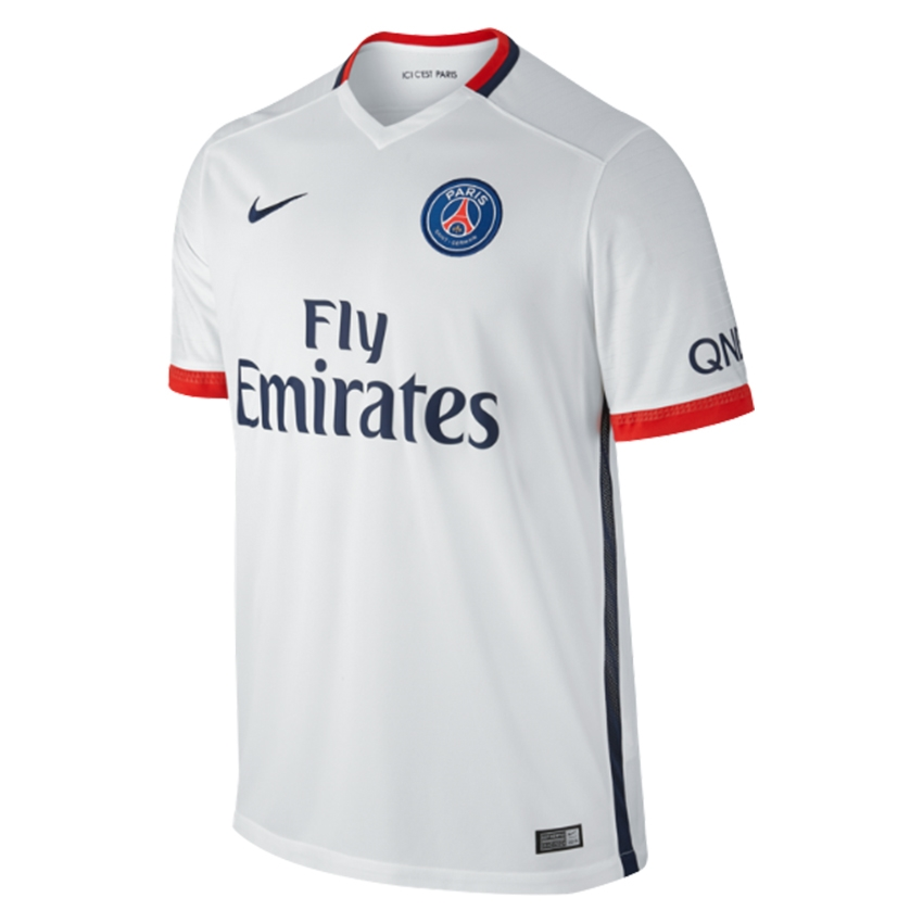 outlet store 32b71 21964 Nike Paris St. Germain Away '15-'16 Soccer Jersey (White/Midnight  Navy/Pimento)