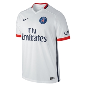 Nike Paris St. Germain Away '15-'16 Soccer Jersey (White/Midnight Navy/Pimento)