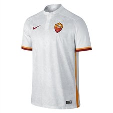 Nike A.S. Roma Away '15-'16 Stadium Soccer Jersey (White/Kumquat/Team Red)