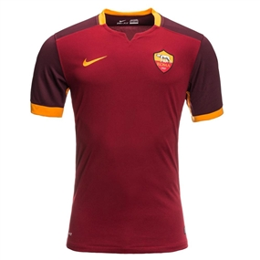 Nike A.S. Roma Home '15-'16 Replica Soccer Jersey (Team Red/Red Mahogany/Kumquat)