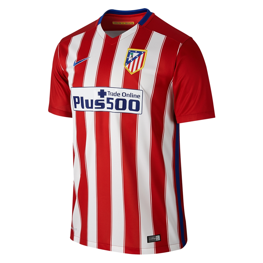 best service a7d62 73aba Nike Atletico Madrid Home '15-'16 Soccer Jersey (Varisty Red/White/Drenched  Blue)