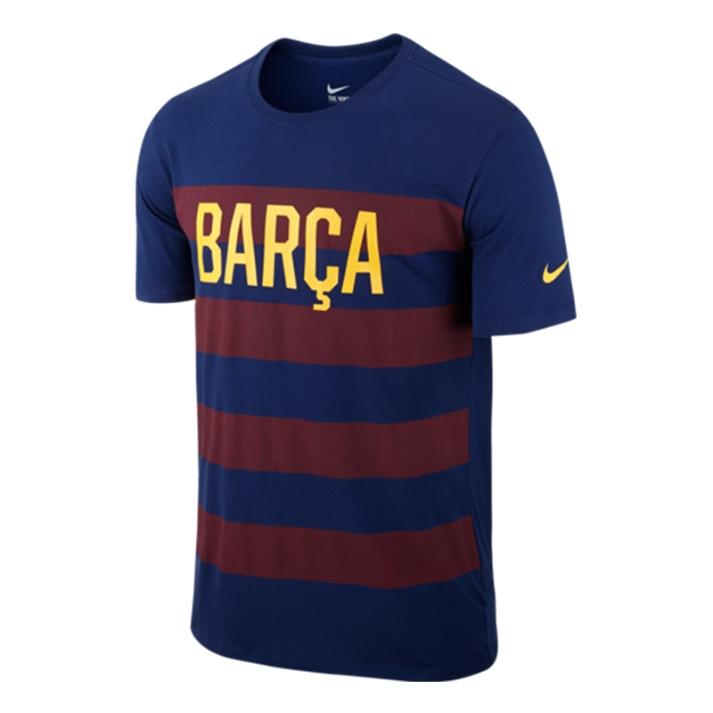 Nike FC Barcelona Match Tee Shirt (Blue Red)  726f415e4