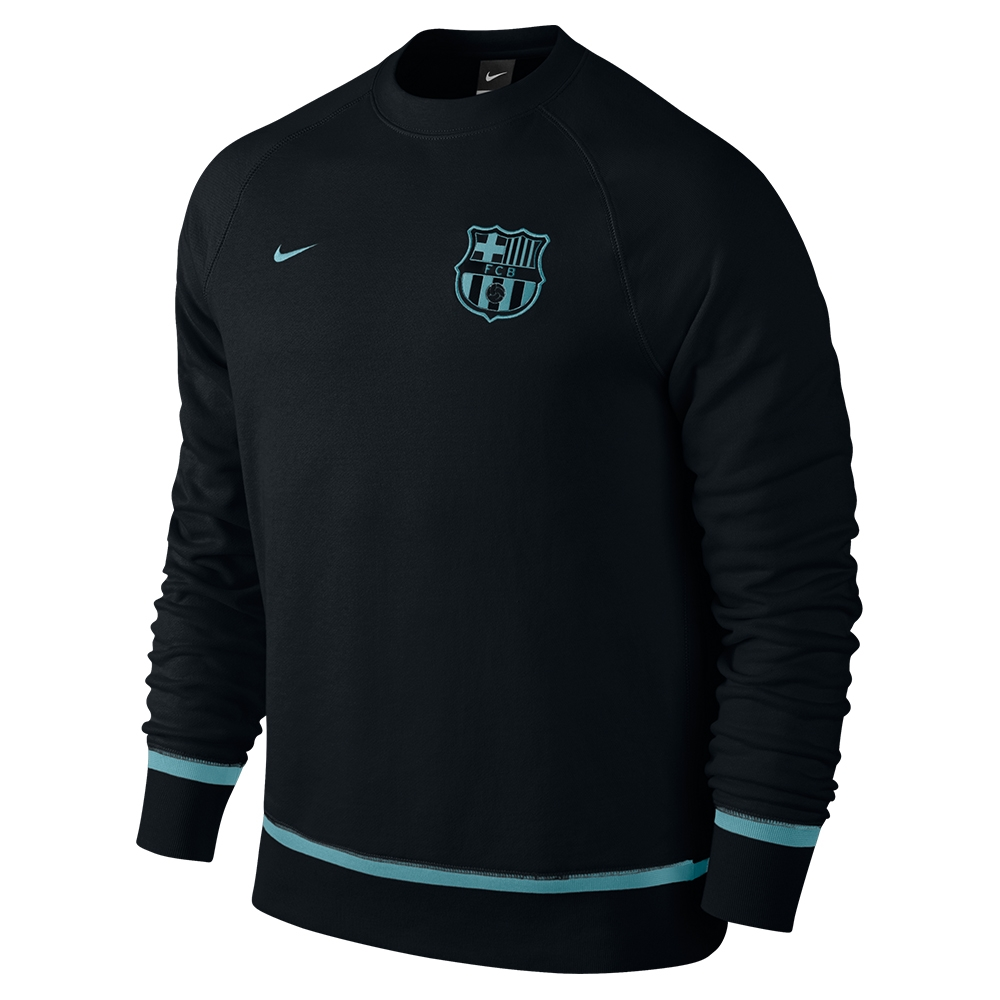 de15e89cf Nike FC Barcelona AW77 Authentic Crew Sweatshirt (Black Light ...
