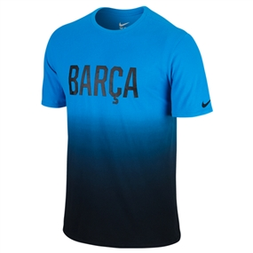 Nike FC Barcelona Match Tee Shirt (Light Blue Lacquer/Black)