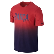 Nike FC Barcelona Match Tee Shirt (Storm Red/Black)