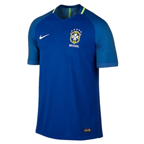 Nike Brasil 2016 Vapor Match Away Soccer Jersey (Varsity Royal/Clearwater/White)