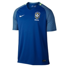 Nike Brasil 2016 Stadium Away Soccer Jersey (Varsity Royal/Clearwater/White)
