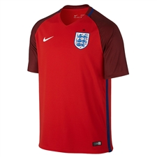 Nike England 2016 Stadium Away Soccer Jersey (Challenge Red/Deep Royal Blue/White)