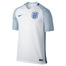 Nike England 2016 Stadium Home Soccer Jersey (White/Blue Grey/Sport Royal)