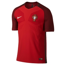 Nike Portugal 2016 Vapor Match Home Soccer Jersey (Gym Red/Deep Garnet/White)