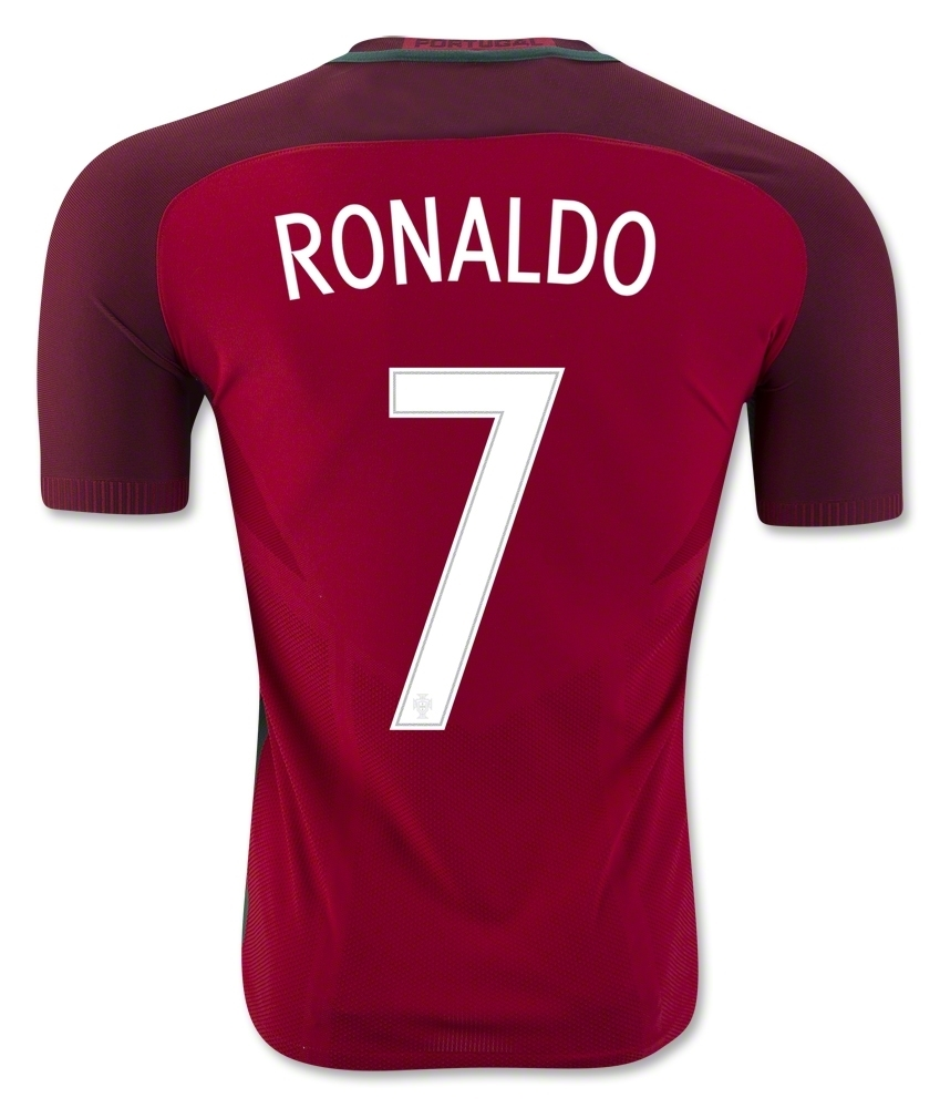 Nike Portugal 2016 Stadium Home  RONALDO 7  Soccer Jersey (Gym Red ... 5aba3dd4d