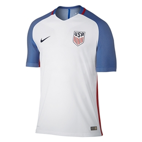 Nike USA 2016 Vapor Match Home Soccer Jersey (White/Game Royal/Midnight Navy)