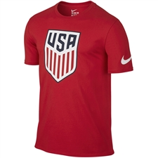 Nike USA Crest Tee Shirt (University Red)