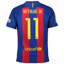 Nike FC Barcelona 'NEYMAR 11' '16-'17 Home Soccer Jersey (Sport Royal/Gym Red/University Gold)