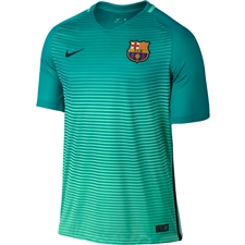 Nike FC Barcelona '16-'17 Third Soccer Jersey (Green Glow/Energy/Black)