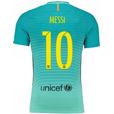 Nike FC Barcelona 'MESSI 10' '16-'17 Third Soccer Jersey (Green Glow/Energy/Black)