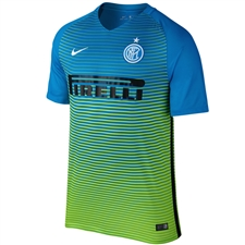 Nike Inter Milan Third '16-'17 Soccer Jersey (Light Blue/Electric Green/White)