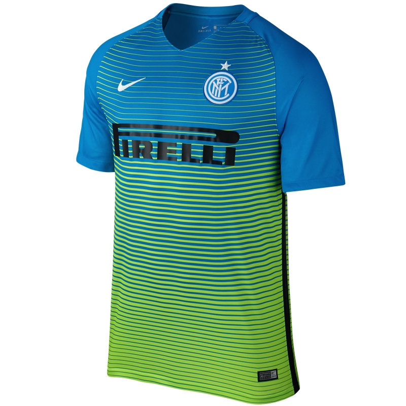 6d8316a99 Nike Inter Milan Third '16-'17 Soccer Jersey (Light Blue/Electric  Green/White) | 776898-435 | Inter Milan Jersey| Inter Milan Replica Soccer  Jersey