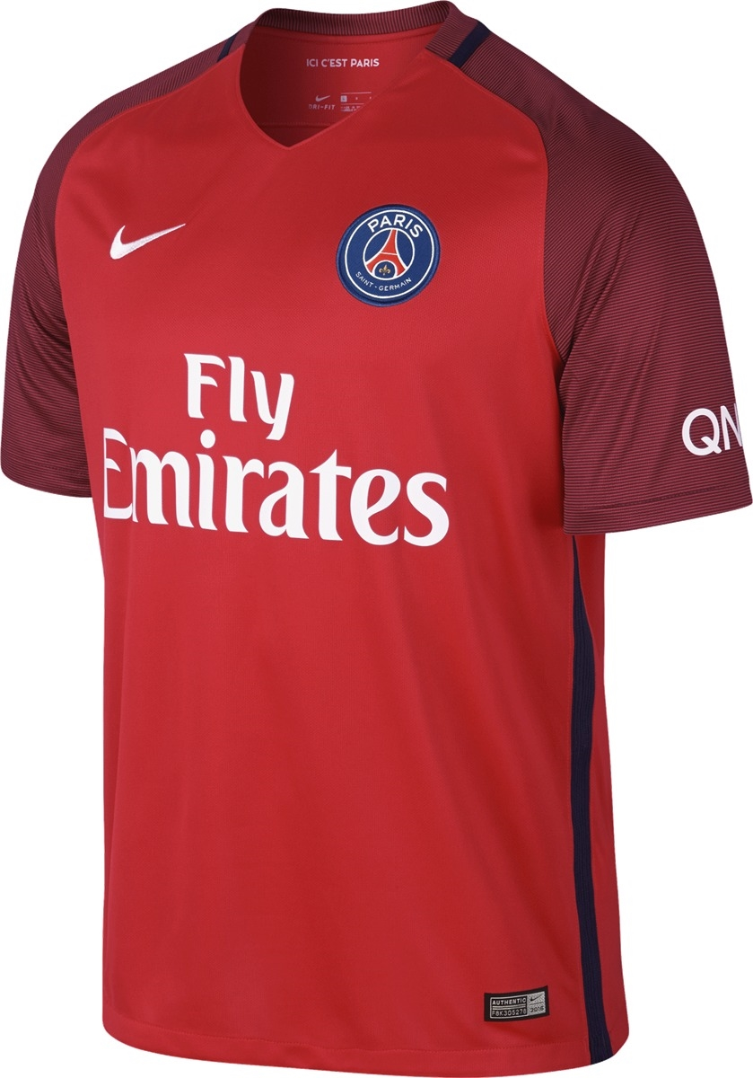 Nike Paris St. Germain Away  16- 17 Soccer Jersey (Challenge Red ... e2fa2da40