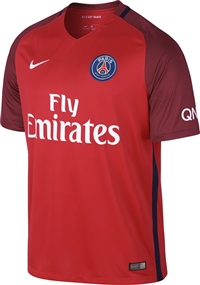 Nike Paris St. Germain Away '16-'17 Soccer Jersey (Challenge Red/Team Red/White)