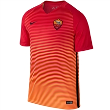 Nike A.S. Roma Third '16-'17 Replica Soccer Jersey (Action Red/Bright Citrus/Black)