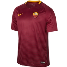Nike Youth A.S. Roma Home '16-'17 Replica Soccer Jersey (Team Red/Night Maroon/Kumquat)