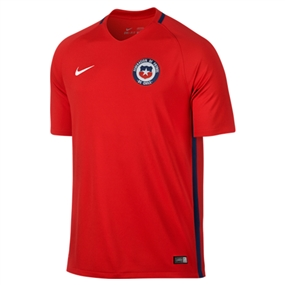 Nike Chile 2016 Stadium Home Soccer Jersey (Red/White)