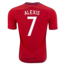 Nike Chile 2016 'ALEXIS 7' Stadium Home Soccer Jersey (Red/White)