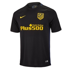 Nike Atletico Madrid Away '16-'17 Soccer Jersey (Black/Yellow)