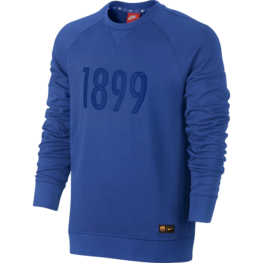 8215ebc4d16b9 Nike FC Barcelona Authentic Crew Sweatshirt (Game Royal) | 824606 ...