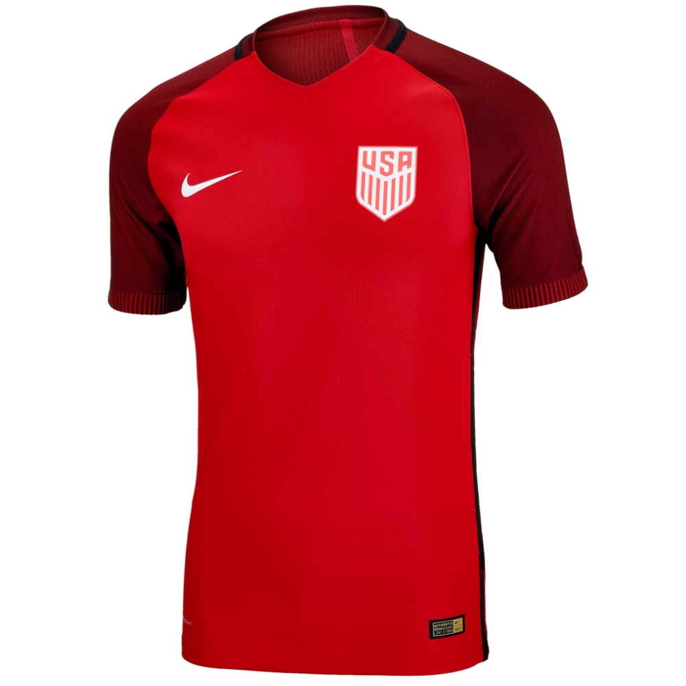 82ef863b2 Nike USA Vapor Match 3rd Soccer Jersey (Gym Red Metallic Silver ...