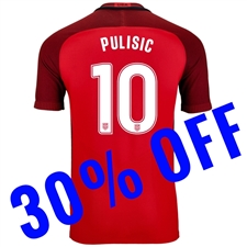 Nike USA 'PULISIC 10' Vapor Match 3rd Soccer Jersey (Gym Red/Metallic Silver)