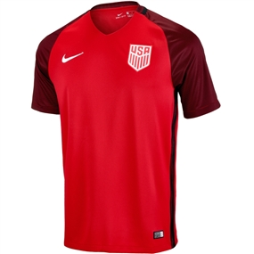 Nike USA 3rd Stadium Soccer Jersey (Gym Red/Metallic Silver)