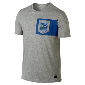 Nike USA 2017 Crest Tee Shirt (Grey)