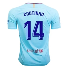 Nike FC Barcelona Vapor Match 'COUTINHO' Away '17-'18 Soccer Jersey (Polarized Blue/Deep Royal Blue)