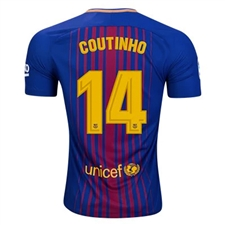 Nike FC Barcelona 'COUTINHO' Vapor Match Home '17-'18 Soccer Jersey (Deep Royal Blue/University Gold)